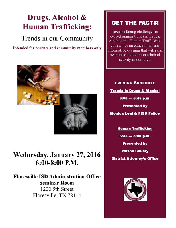 Community Seminar: Drugs, Alcohol and Human Trafficking Trends in Our Community