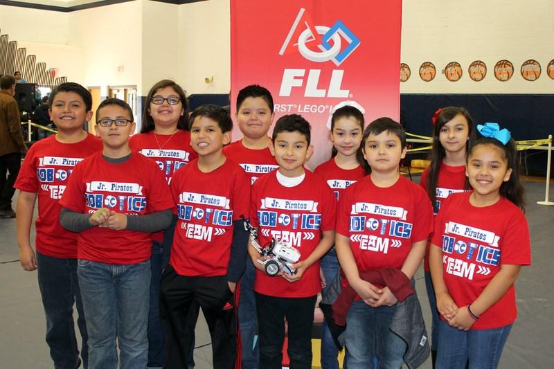 Jr. Pirates Robotics Team at Qualifier Meet