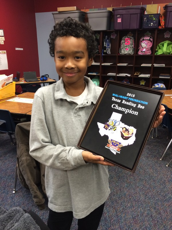 E. Ray Student Wins 2015 Wal-Mart Foundation Texas Reading Bee