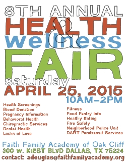 8th Annual Health & Wellness Fair Scheduled for April 25, 2015
