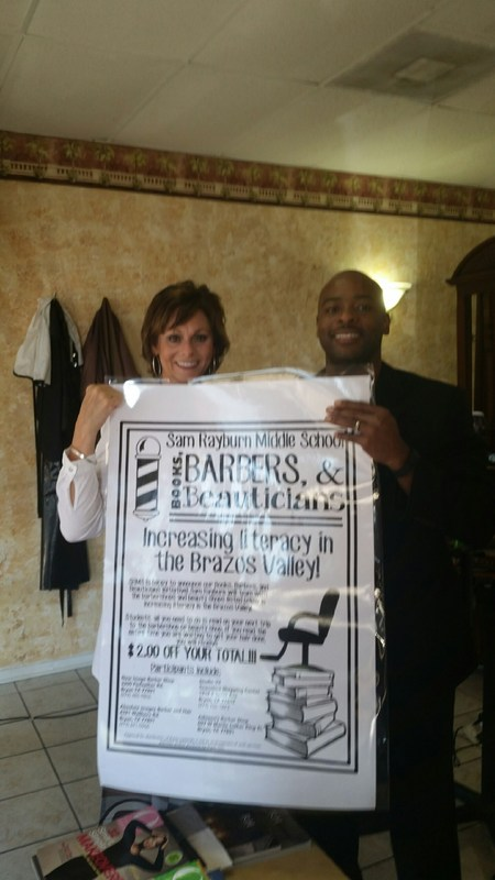 Sam Rayburn Partners with Local Barbershops and Beauticians to help increase Student Literacy