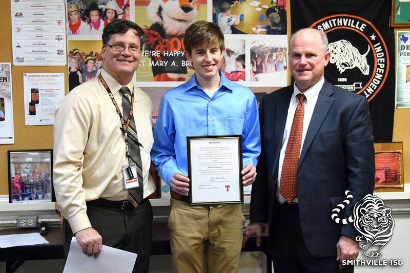 SHS Students Recognized at School Board Meeting