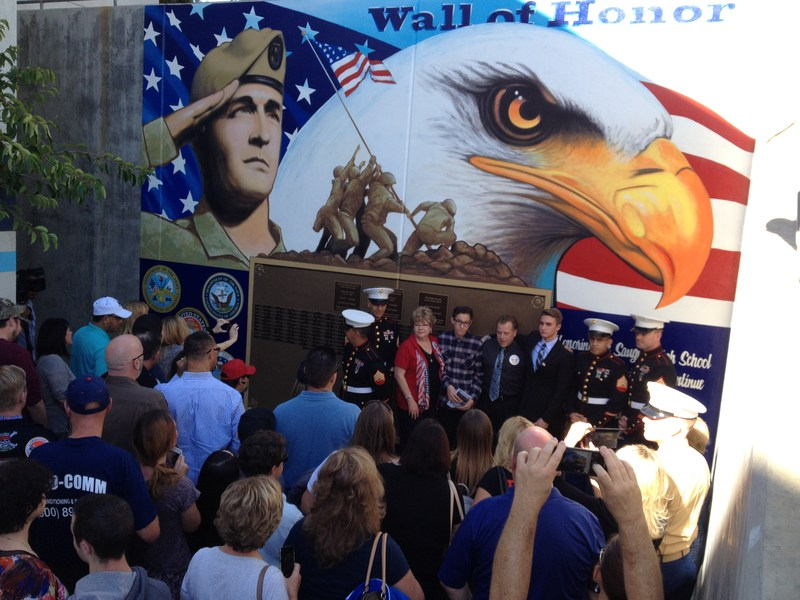 Image of Wall of Honor Unveiling Ceremony at Saugus High School