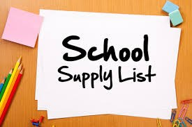 2015-2016 VVJH School Supply List