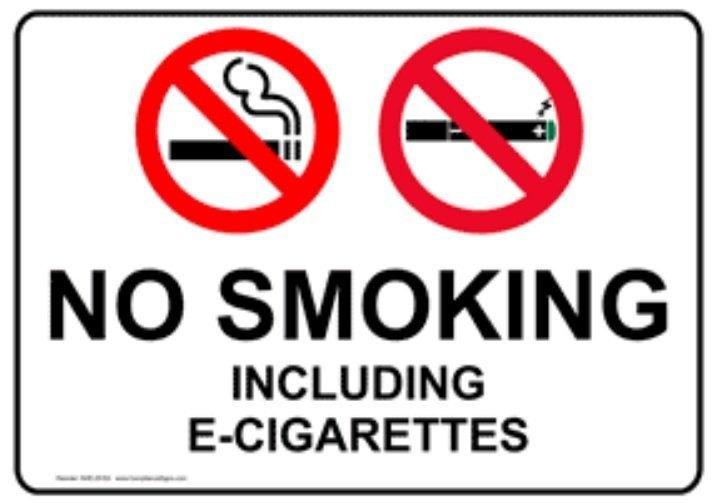 Electronic Cigarettes Prohibited
