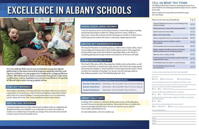 SURVEY: SCHOOL IMPROVEMENT BOND MEASURES