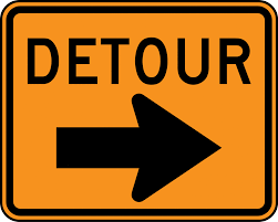 Construction Detour in Loomis