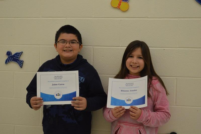 Schallert Elementary Spelling Bee Winners