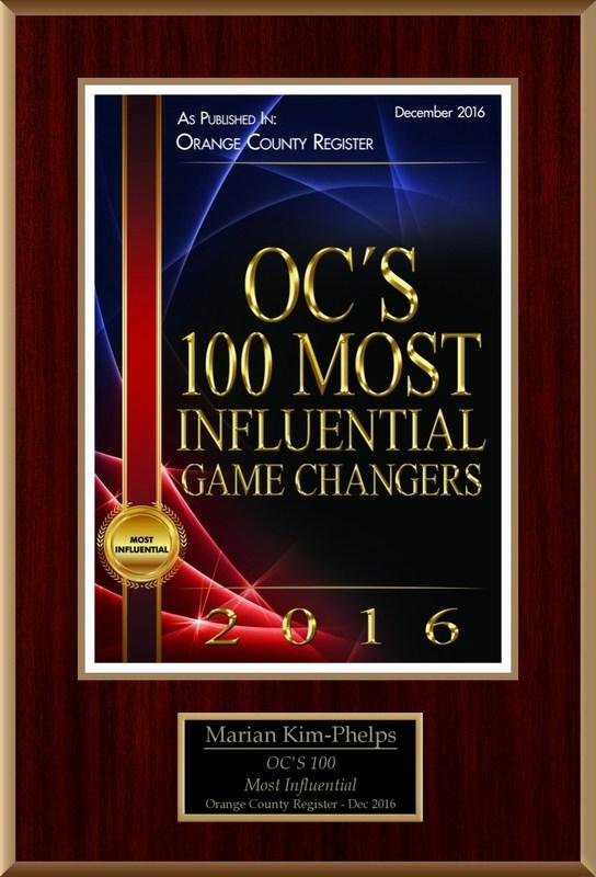 100 Most Influential Plaque