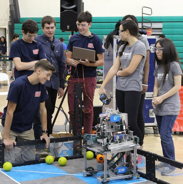 NDA's Robotics team wins the VEX Create