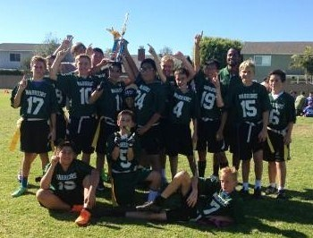 JH Flag Football - CALOC League Champions!