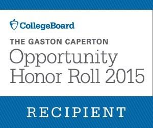 The Gaston Caperton Opportunity Honor Roll 2015 Recipient