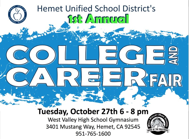 Hemet Unified School District is Announcing its First District-Wide College and Career Fair