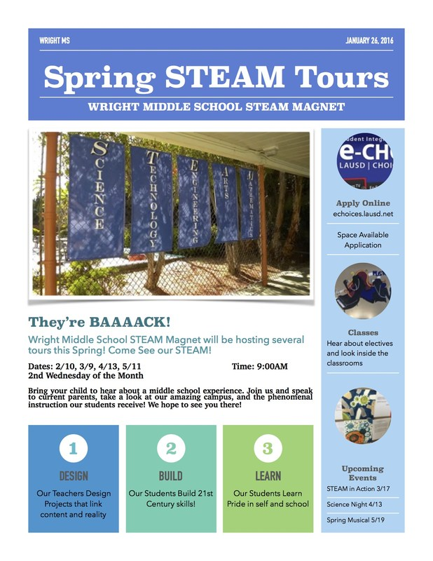Spring STEAM Tours!!
