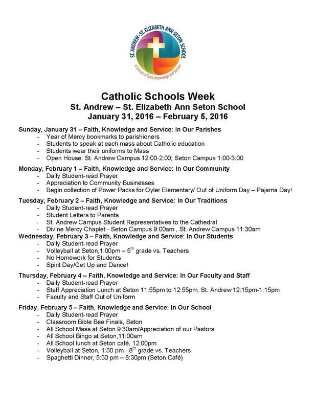 Catholic Schools Week Celebration