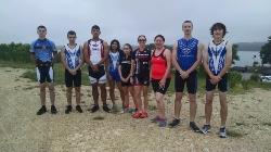 FHS ROTC Triathlon Team at Boerne Lake Triathlon
