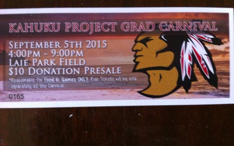 Kahuku Project Grad C/O 2016 Carnival Fundraiser on Saturday September 5th, 2015