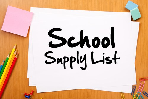 School Supply Lists and Open House Times