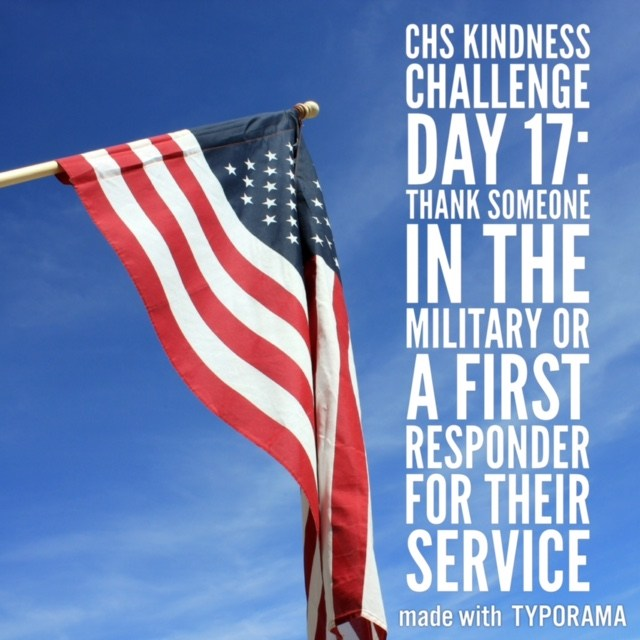 Kindness Week Challenge: Thank Someone In the Military or First Responder