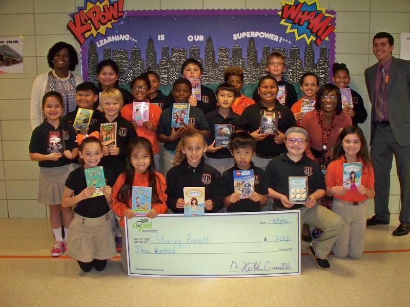 A+PEL donates books to Boothville-Venice 4th Grade Class Thumbnail Image