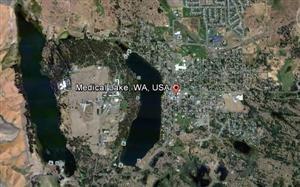 Aerial view City of Medical Lake