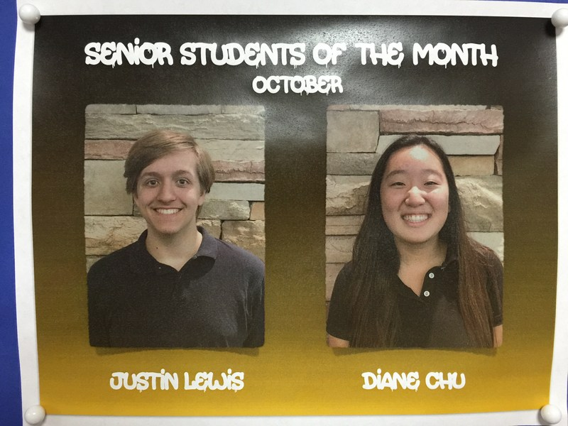 Congratulations to the Students of the Month for October!