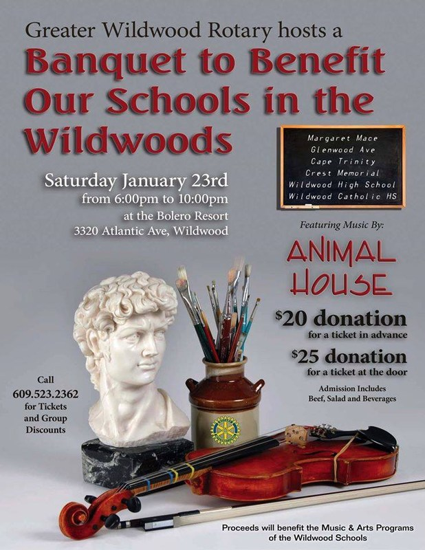 Banquet to Benefit Our Schools in the Wildwoods POSTPONED to March 11th!!