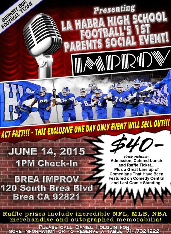 La Habra High School Football Fundraiser Event