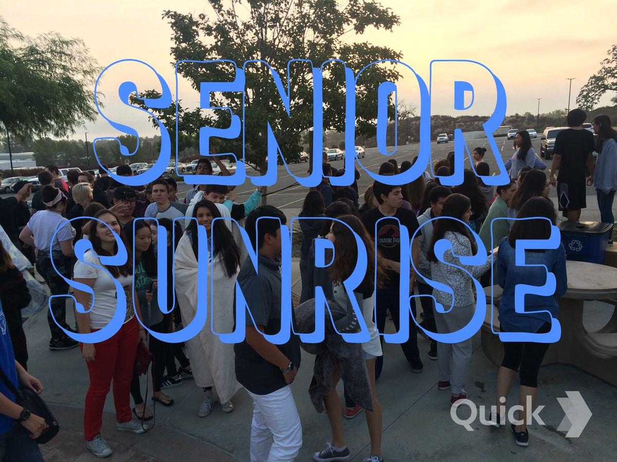 Seniors at the Senior Sunrise