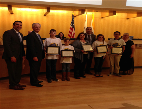 MouseSquad receiving commendation from SJ Mayor