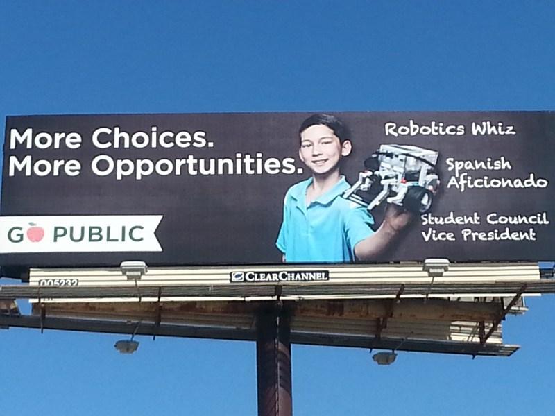 FSH Elementary Student on Billboard!