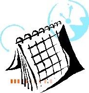 a generic calendar and clock illustration