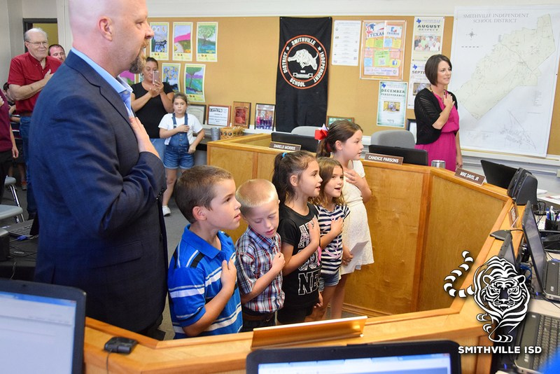 Students Lead Pledge at Board Meeting Thumbnail Image