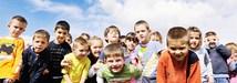 Stock photo of elementary school-aged children