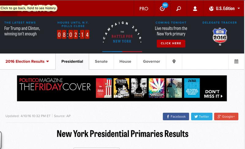 Politico Web Site Image