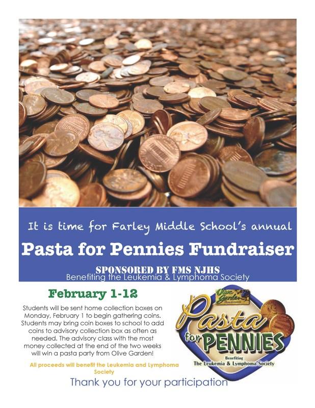 FMS Pennies for Pasta Fund Raiser
