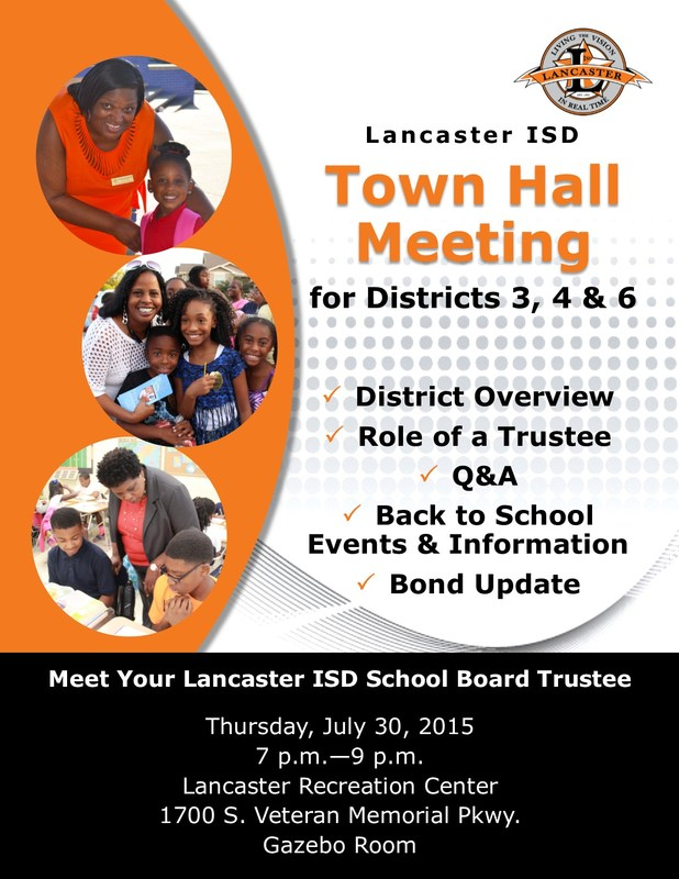 School Board Districts 3, 4 & 6 Town Hall Meeting