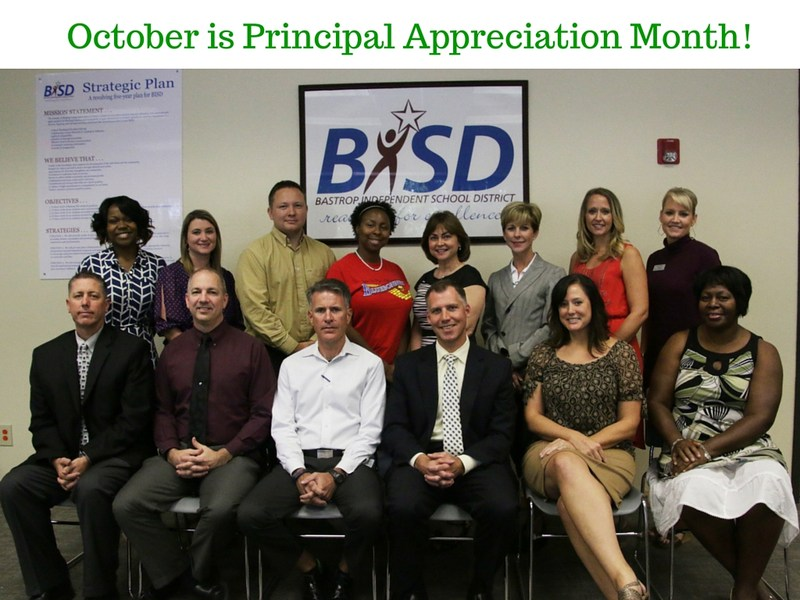 October is Principal Appreciation Month