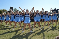 Congratulations 8th Grade Cheer - we have 9 total SMS 8th Graders Cheering for their respective HS's next year!