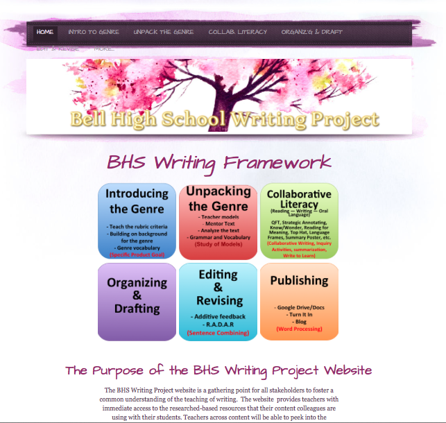BHS Writing Project Web Site Launched