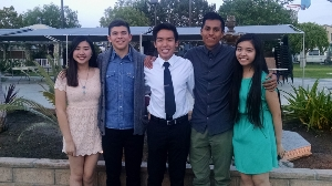 Congratulations to Elks Lodge Scholarship Winners - Erik Nguyen, Robert Ramirez, Scott Sanchez, Priscilla Bang and Duyen Diep