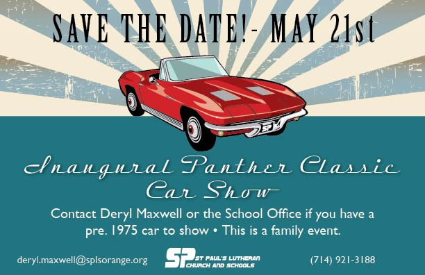 Inaugural Panther Classic Car Show Coming~May 21st