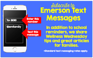Receive Text Messages from Emerson School
