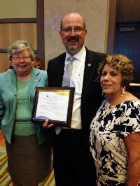 Philip Riley, Jr. of St. Monica Catholic School in Dallas, TX, received the 2015 Distinguished Principal Award from the National Catholic Educational Association (NCEA) for his dedication and commitment to excellence.