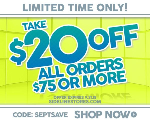 Sideline Store Limited Offer!