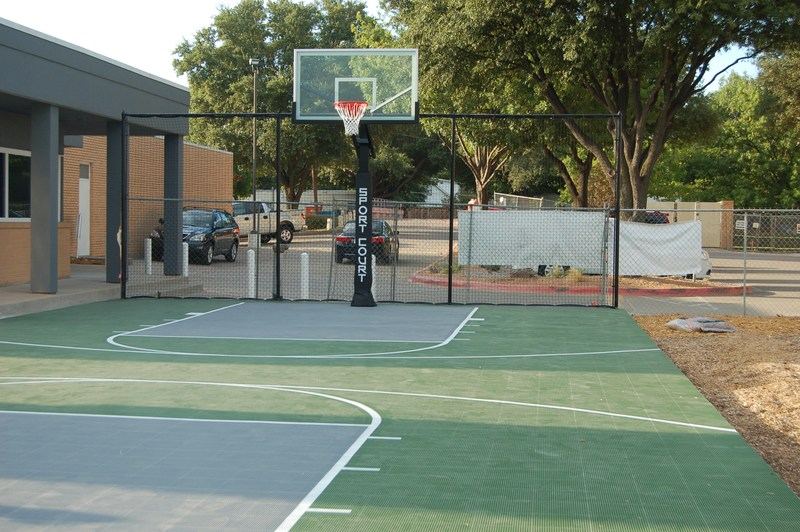 Sport Court and Gaga Pit Added to Playground Area
