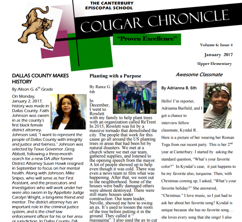 Issue Four of the Cougar Chronicle Thumbnail Image