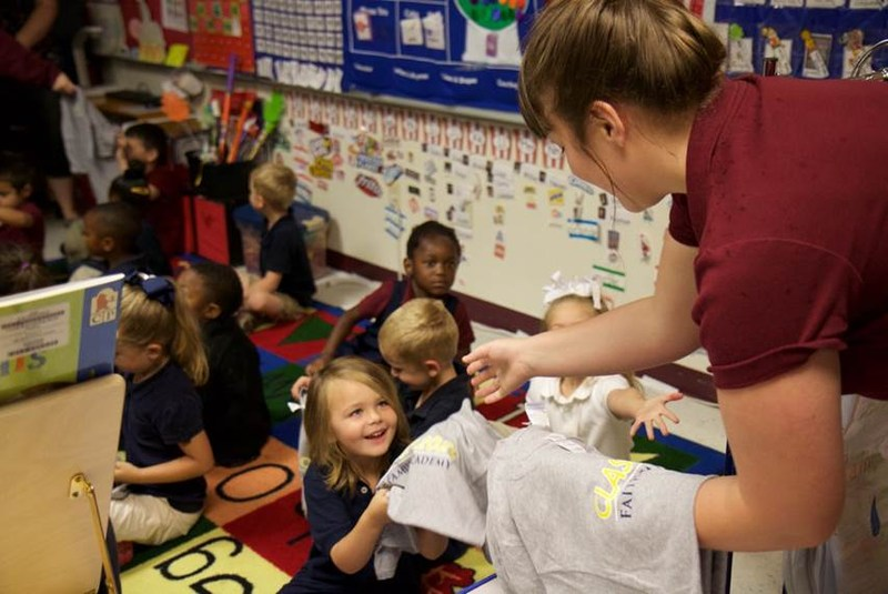 PK-4 Students Receive Class of 2028 T-Shirts