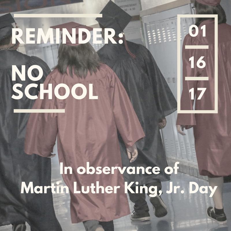 NO SCHOOL: JANUARY 16 Thumbnail Image