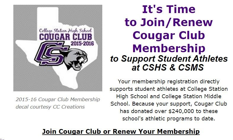 Register or Renew Your Cougar Club Membership!